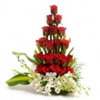 send Orchid and Roses bouquet delivery