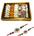 send one kg sweet boxs and designer rakhi delivery