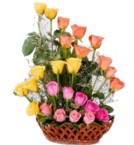 send bautiful pink yellow designer bouquet-two delivery