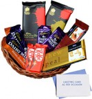 send basket of assorted chocolates with greeting card delivery