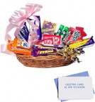 send chocolate basket-one delivery