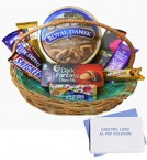 send Basket of Chocolates and Cookies with greeting card delivery