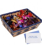 send Handmade Chocolates 400 gms in Basket with Free Greeting Card  delivery