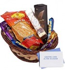 send Chocolate gift Basket with Namekeen delivery