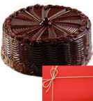 send eggless yummy chocolate 500gms and card delivery