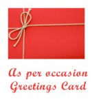 send As Per occasion Greeting  Card  delivery