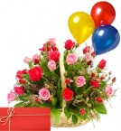 send birthday bouquets with balloons delivery