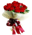 send Exclusive Red Roses Bunch and Greeting Card delivery