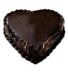 send birthday heart shape 1kg chocolate cake delivery
