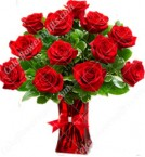 send 12 red roses arrangement in a vase delivery