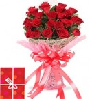 send 25 Red Roses Bouquet delivery
