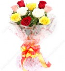send 10 Mix Roses Flower Bouquet delivery