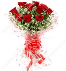 send fresh bunch of 10 red roses delivery