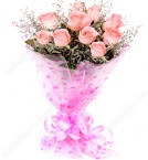 send  Fresh  Bunch Of 10 Pink Roses delivery
