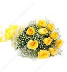send 10 yellow rose bunch delivery