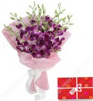 send Orchids Bouquet delivery