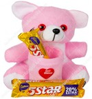 send Pink Teddy And Chocolate Combo delivery