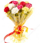 send Mixed Color Carnation Bouquet  delivery