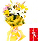 send lovely Lilies Bouquet delivery
