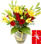 send Oozing Love Lilies Bouquet delivery