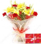 send Carnations and Lilies Bouquet delivery