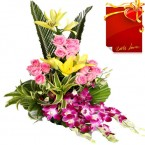 send Golden Moments lillies bouquet delivery