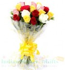 send 15 Mix Roses Bouquet  delivery