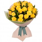 send Long Stemmed Rose Bouquet Yellow 24 delivery