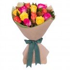 send Long Stemmed Rose Bouquet Yellow 12 delivery