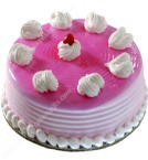 send half kg eggless designer strawberry cake delivery