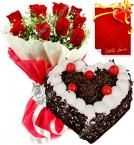 send eggless flower cake combo two delivery