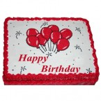 send 1kg Red Velvet Photo Eggless Cake delivery