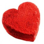 send 500gms Red Velvet Cake Heart Shape delivery