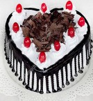send 1kg Heart Shape Black Forest Cake delivery