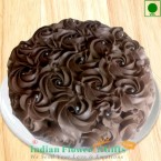 send 1 Kg Eggless Roses Chocolate Cake delivery