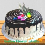 send 1Kg Eggless Choco vanilla Cake Pastry Cake delivery