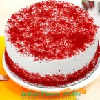 send half kg red velvet fresh cream cake delivery