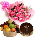 send Beautiful Fruit Combo Gifts-One delivery