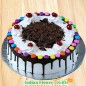 eggless half kg gems black forest cake