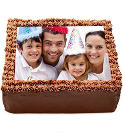 2Kg Chocolate Photo Cake