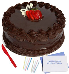 eggless chocolate cake n greeting card combo-2