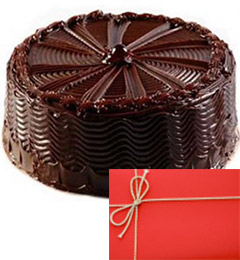 eggless yummy chocolate 500gms and card