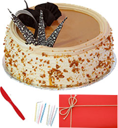 Any Occasion Half Kg Eggless Butterscotch Cake n Greeting Card