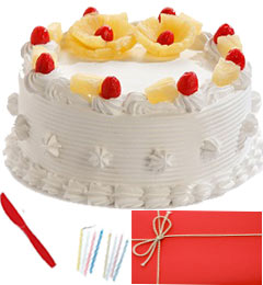 Any Occasion Half Kg Eggless Pineapple Cake n Greeting Card