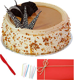 Any Occasion 1 Kg Eggless Butterscotch Cake n Greeting Card