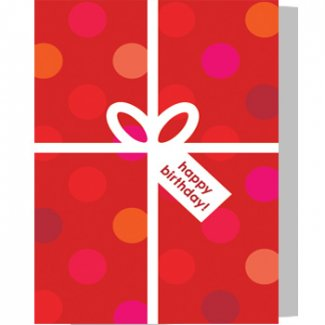 Small Greeting Card With Gifts