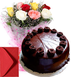 eggless flower cake combo - one