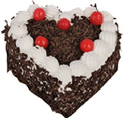 heart shape black forest cake one kg
