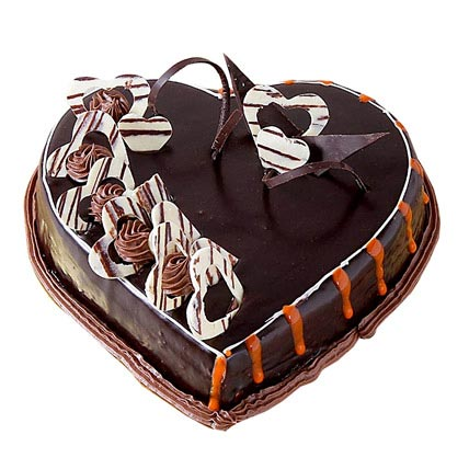 special delicious heart shape truffle cake