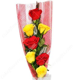 7 Red Yellow Roses